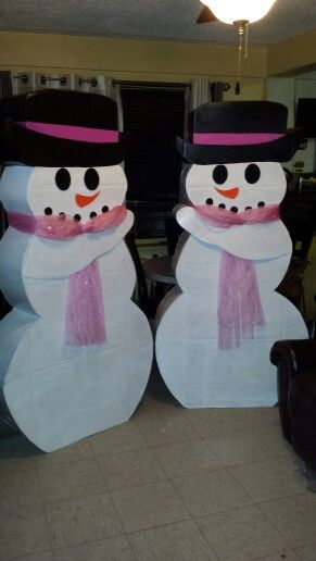 I made two snow ladies for a winter wonderland sweet 16 party.