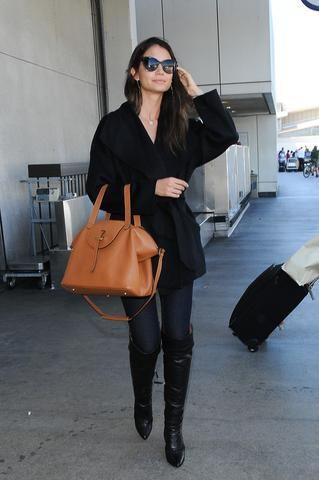 Lily aldridge supermodel wearing meli melo bags | Celebrities