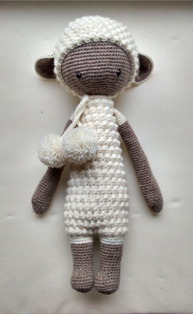 LUPO the lamb made by Lena-Marie H. / crochet pattern by lalylala