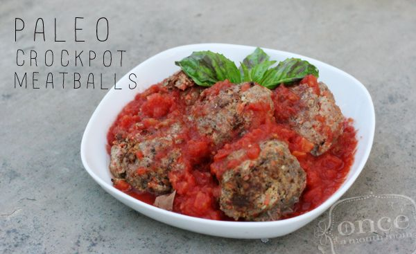 Paleo Crockpot Meatballs   OAMC from Once A Month Meals  This was absolutely amazing!!! My sister cooked a double batch overnight in the crockpot. The only change she made in the ingredients was to add 1 cup of water because the sauce was pretty thick. The recipe calls for it to cook for 4-6 hours. Ours cooked for a few hours longer with no problems.