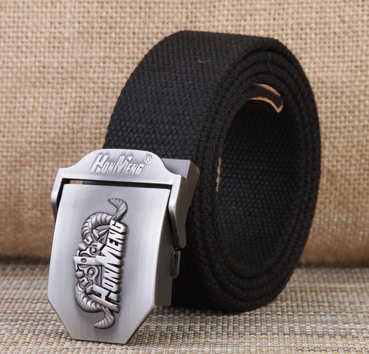 2016 fashion casual famous brand Men's canvas belt luxury mens Designer jeans Military black stripes army green belts 120cm