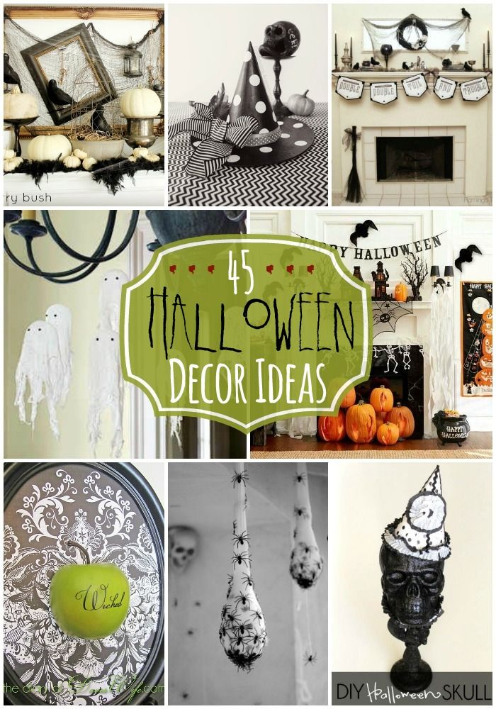 45 Halloween Decor Ideas - TONS of spooky and fun Halloween decorations to inspire you!! { lilluna.com }
