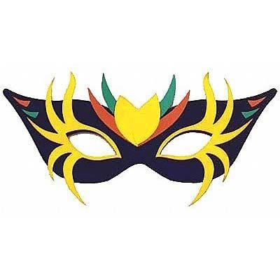 Máscara de Carnaval Gigante PRETA para Decoração de Salão (4590)