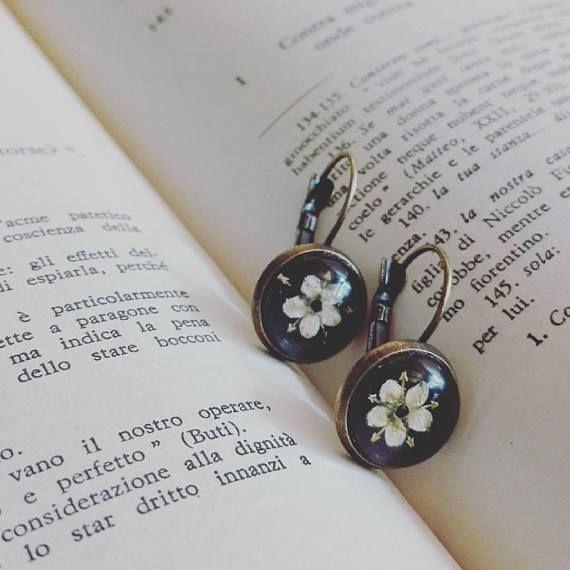 Earrings SAMBUCO  Pendant Lobe Earrings With Monachella