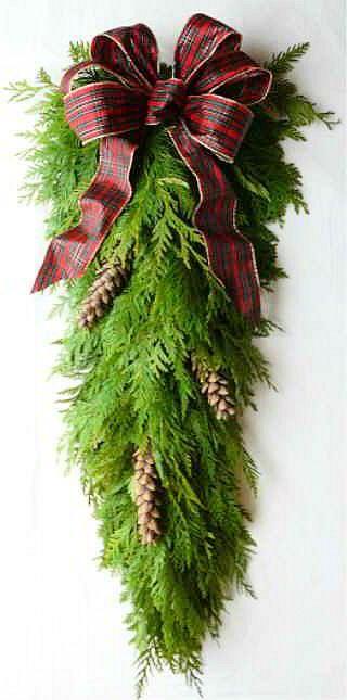 Fresh Cedar Teardrop Swag Oooh I Want This Fresh Cedar