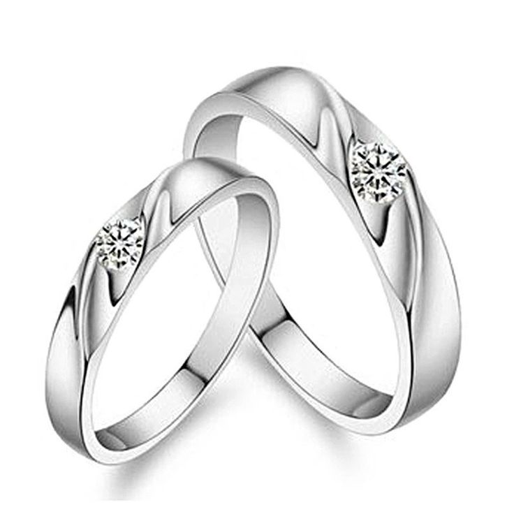 Lovers Rings For Men or Women Platinum Plated and Cubic Zirconia