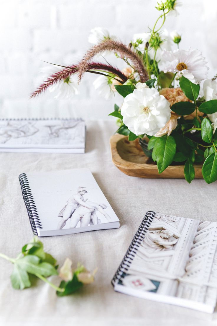 DIY custom notebooks make perfect take-home favors for guests!
