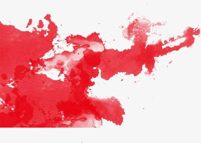 Red Watercolor Ink Effect Red Watercolor Pomo Png Transparent