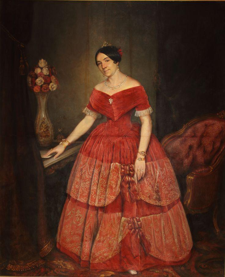 "| Prilidiano Pueyrredón | ""Retrato de Manuelita Rosas"" | 1851 | Óleo sobre tela | 199 x 166 cm. - Marco: 222,5 x 186,5 x 7 cm. | Inv. 3188 | http://www.mnba.gob.ar/coleccion/obra/3188 |"