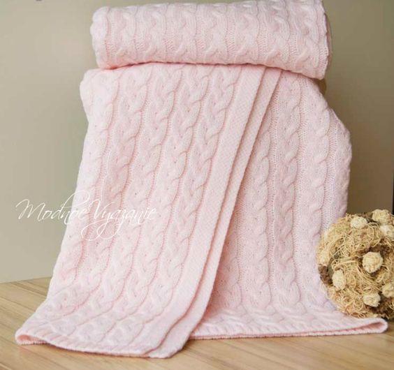 Children's blanket braids - Fashionable knitting