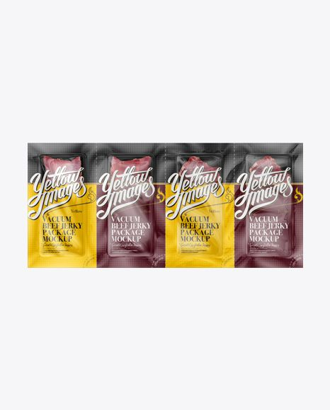 Vacuum Beef Jerky Package Mockup - Front View (Preview)