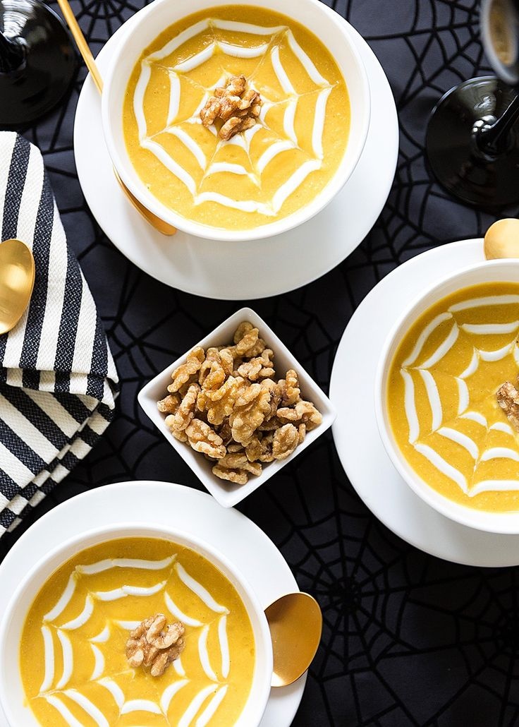 Butternut Squash and Walnut Soup