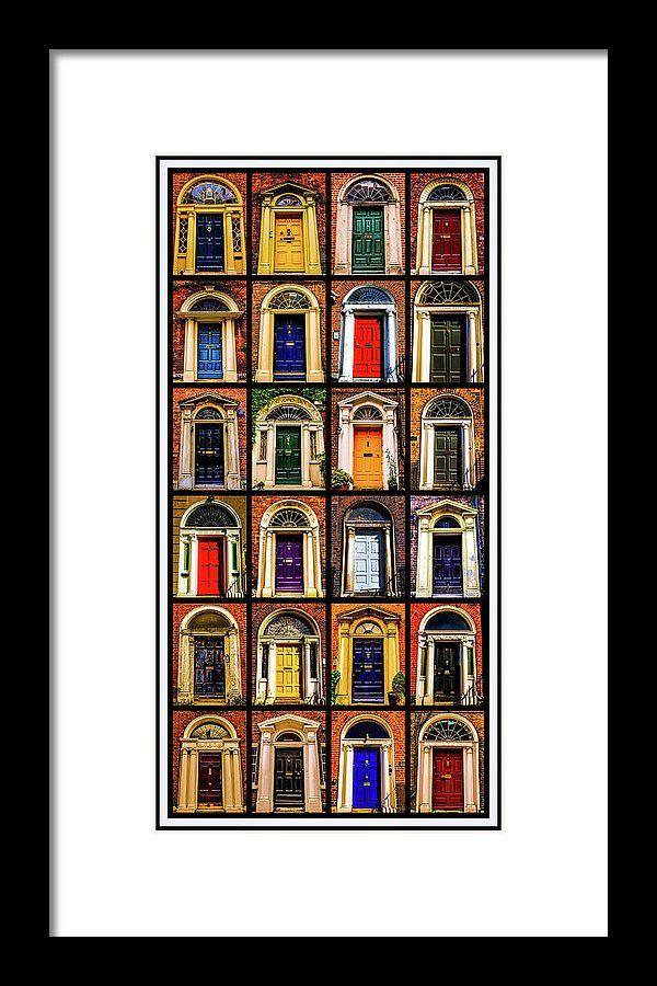 Georgian Doors of Dublin Framed Print.