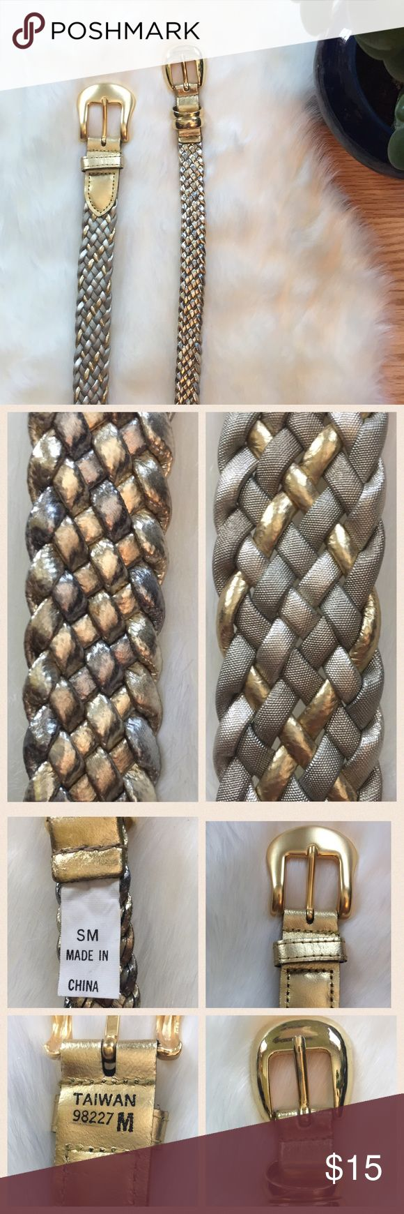 "Gold Braided Belt Bundle 2 Braided Belts in Gold. Both measure 37"". EUC Accessories Belts"