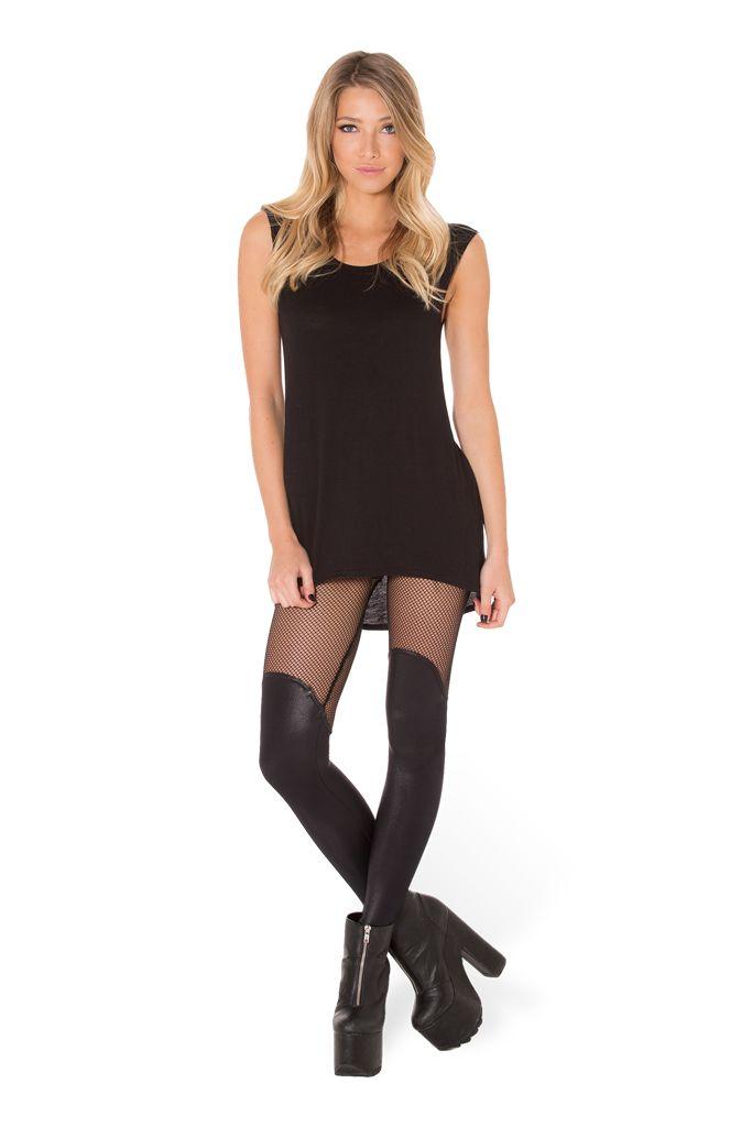 Bootleg Net Leggings (WW $90AUD / US $85USD) by Black Milk Clothing