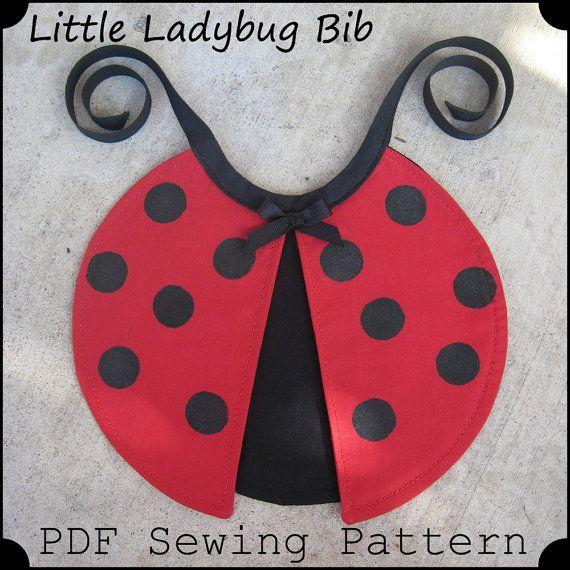 Little Ladybug Bib - PDF Sewing Pattern - Infant Baby Toddler Size