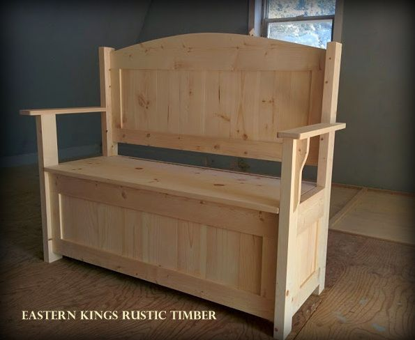 This deacon's bench made from Canadian Pine will provide you with storage and a comfy place to sit, whether it's at your front door or the hallway. Shown unfinished but can be Stained, to suit your decor. It can also be custom built to your size needs.