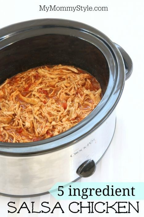 5 ingredient salsa chicken slow cooker recipe, slow-cooker, crock pot, crockpot, slowcooker, crock-pot, fall recipes, dinner recipes, mymommystyle.com