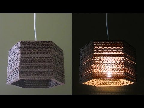 Cardboard lamp diy hexagon best out of waste project ezycraft youtube