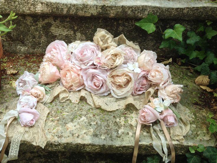 Guirlande roses de papier