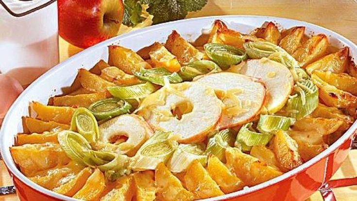 Kartoffel-Porree-Auflauf