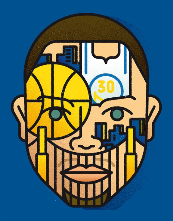 Stephen Curry 'Face of The Bay' Illustration