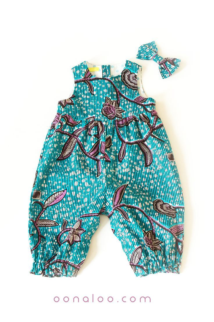 1ca61313ff6a This blue baby romper and bow is in a lovely vine pattern design African  fabric. To see more African baby outfits click through to browse our  collection of ...