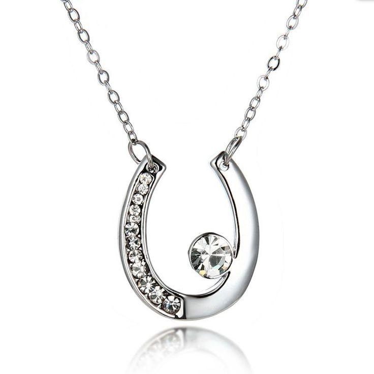 Sparkling Lucky Horseshoe Necklace from My Shalu