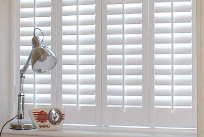 I love white wooden shutter blinds