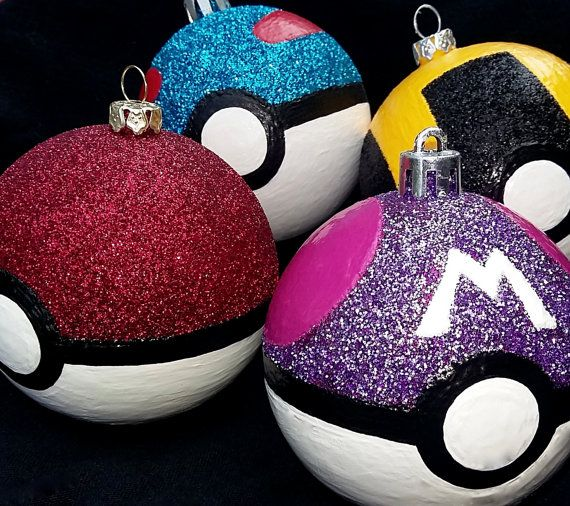 Pokeball Christmas ornaments