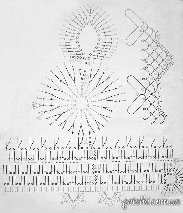 схема вязания пасхального