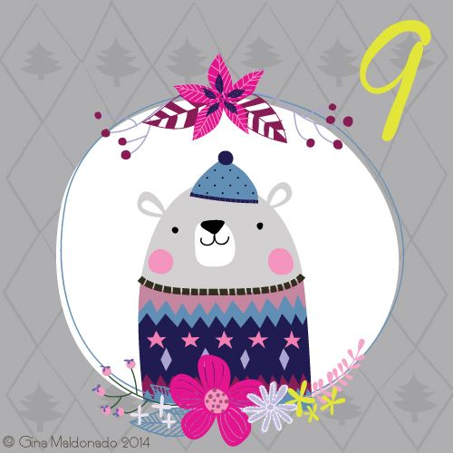 Christmas countdown Day 9 #advent #Christmas © Gina Maldonado 2014