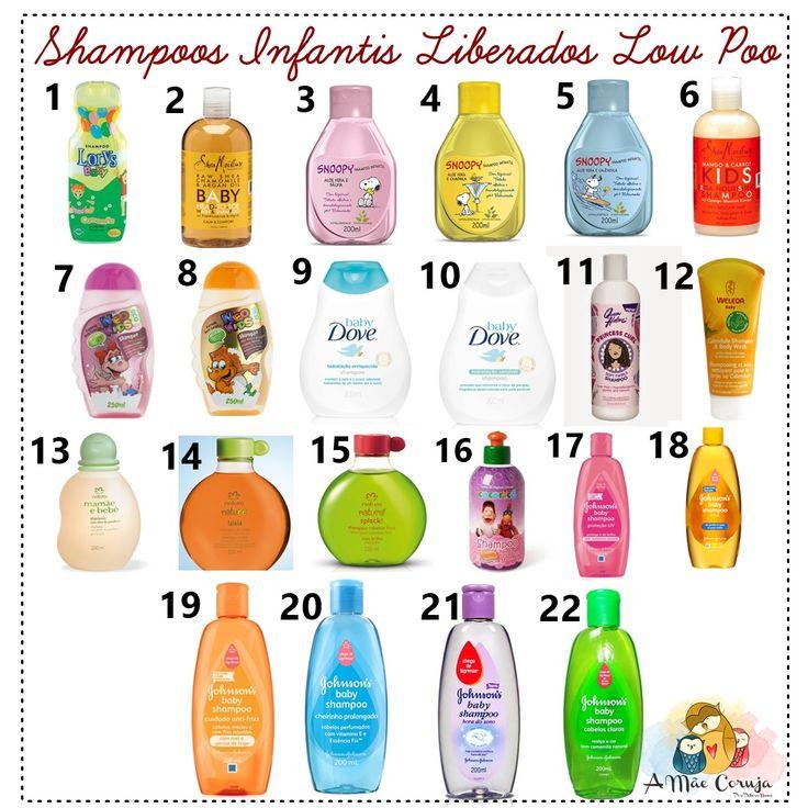 SHAMPOOS INFANTIS LIBERADOS PARA LOW POO