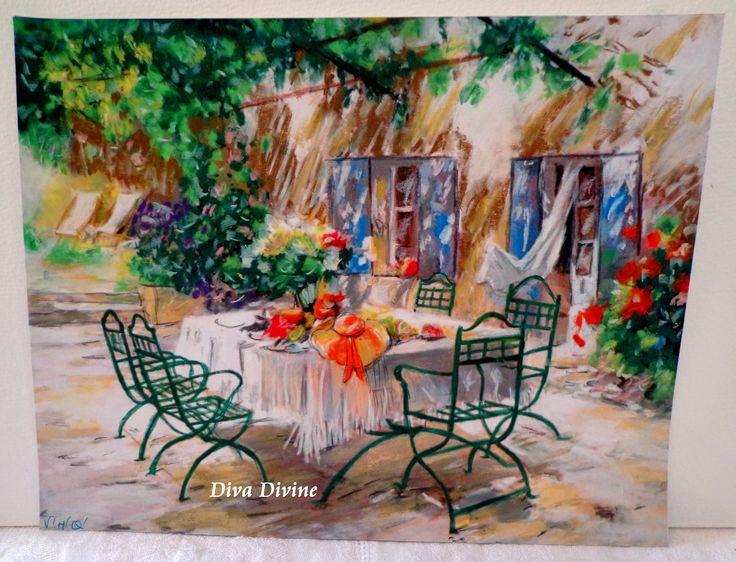 Pastel Sec pour Tableau Romantique, Bohème * LE GOÛTER * - Création Originale : Accessoires de maison par diva-divine
