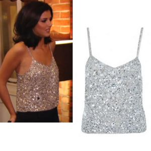 Where did Lucy Mecklenburgh get her silver cami top from on The Only Way Is Essexmas 11/12/13? - Style on Screen