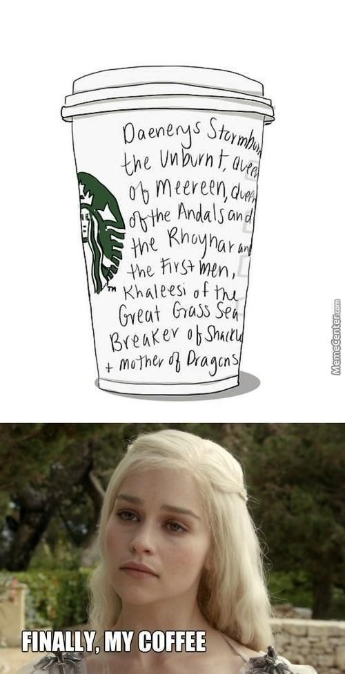 Starbucks y Juego de Tronos XD