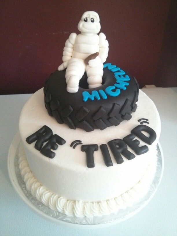 Michelin Man Retirement Cake Michelin Man Pinterest