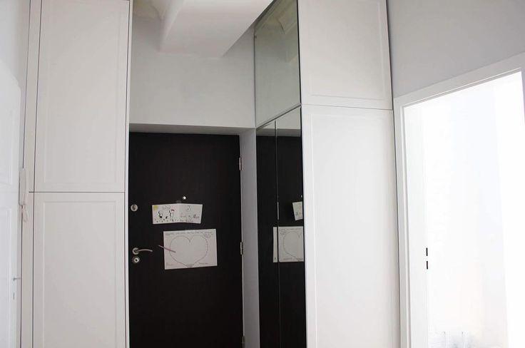 #wardrobe #szafa #lustro #mirror #decor #dom #home #wnętrza #mieszkanie #biel #white #warszawa #warsaw #polska #meble #furniture #design