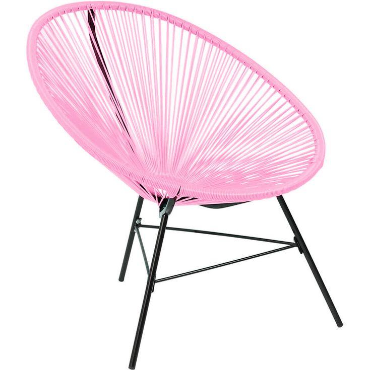 Charles Bentley Garden Furniture Retro Rattan Lounge Conservatory Chair Pink - GLACAPCH01PAPK - Garden and Outdoor
