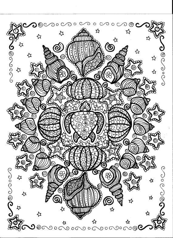 Instant Download Turtle Shell Mandala Sie werden die Künstler-Meditation-Art