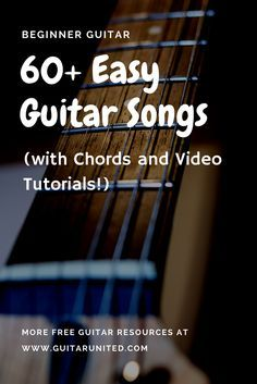 Beginner guitar lessons - learn how to play guitar songs with this ultimate list. It comes with chords and a video tutorial for each song. This will keep you busy!
