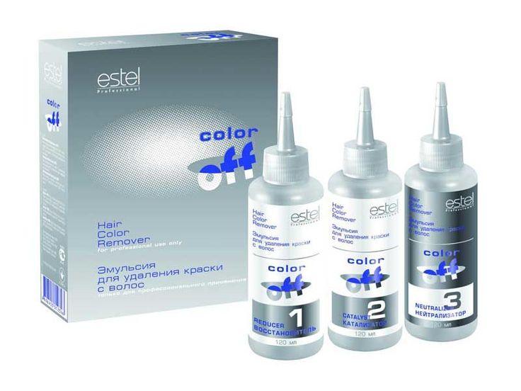 estel professional color off смывка для волос