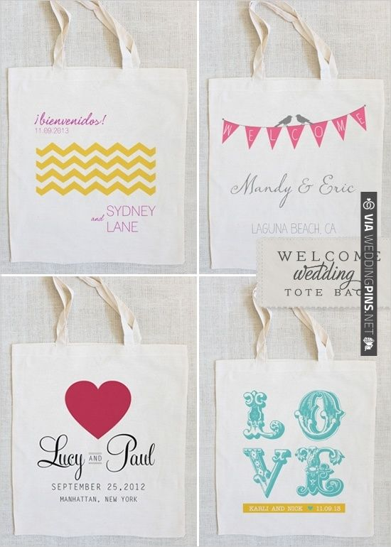 custom totes all $10 or $5 each if you order 20. | CHECK OUT MORE IDEAS AT WEDDINGPINS.NET | #weddings #weddinggear #weddingshopping #shopping