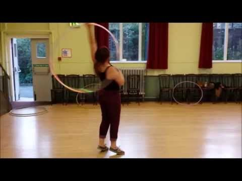 Tamzin - elbow to neck barrel roll hula hoop tutorial - YouTube