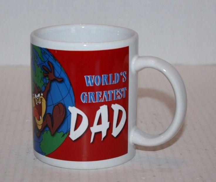 Tasmanian Devil World's Greatest Dad Coffee Cup Mug Excellent Condition Shp