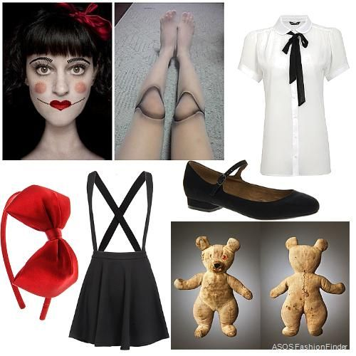 Creepy doll Halloween costume idea | ASOS Fashion Finder