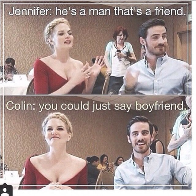 Jennifer looks like she's reaching the end of her rope like *Colin just let me try goddamn it*