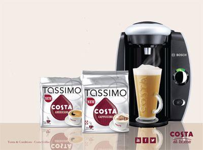Win 1 of 300 Tassimo Coffee machines from Costa Coffee.