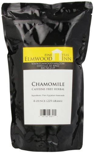 Elmwood Inn Fine Teas, Chamomile Caffeine-free Herbal, 8-Ounce Pouch >>> Click image for more details.