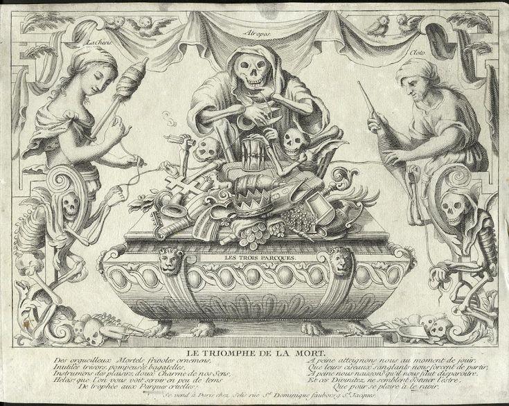 SELIS  Gerard - (Editeur à Paris de c.1746 à c.1753) Le triomphe de la Mort - gravure
